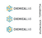 chemical lab logo template.... | Shutterstock .eps vector #739989754