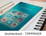bangkok  thailand   oct 23 ... | Shutterstock . vector #739990429
