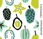 abstract colorful fruits... | Shutterstock .eps vector #739992511