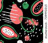 abstract bright colorful papaya ...   Shutterstock .eps vector #739993315