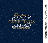 christmas design with a blue... | Shutterstock .eps vector #739993825