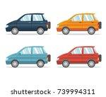 suv car set of crossover...   Shutterstock .eps vector #739994311