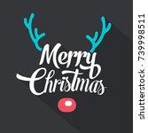 merry christmas typographic... | Shutterstock .eps vector #739998511