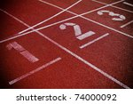 numbers on running track  ... | Shutterstock . vector #74000092