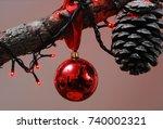 christmas decorations   Shutterstock . vector #740002321