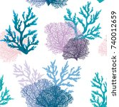 vector seamless pattern with...   Shutterstock .eps vector #740012659