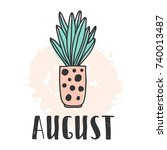 Calendar 2018 Year August Mont...