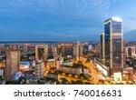 modern metropolis skyline ... | Shutterstock . vector #740016631