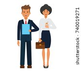 business office team cartoon... | Shutterstock .eps vector #740019271