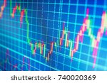 abstract financial background... | Shutterstock . vector #740020369