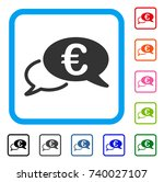 euro chat icon. flat gray...