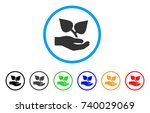 flora care hand rounded icon.... | Shutterstock .eps vector #740029069