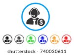 distance marketing rounded icon.... | Shutterstock .eps vector #740030611