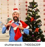 guy in hat and red and white... | Shutterstock . vector #740036209