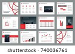 page design for business... | Shutterstock .eps vector #740036761