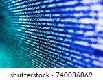 new technology revolution.... | Shutterstock . vector #740036869