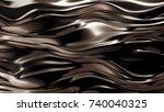 luxury golden background. 3d... | Shutterstock . vector #740040325