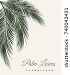 palm leaves vintage background. ... | Shutterstock .eps vector #740042431
