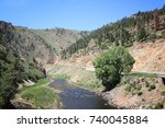 upstream colorado river... | Shutterstock . vector #740045884
