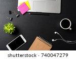 elegant office desktop | Shutterstock . vector #740047279