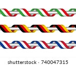 colored ribbon with the italian ... | Shutterstock .eps vector #740047315
