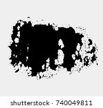 abstract black thick smear of... | Shutterstock .eps vector #740049811