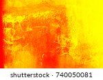abstract yellow cement wall... | Shutterstock . vector #740050081