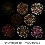 set of bright colorful... | Shutterstock .eps vector #740050411