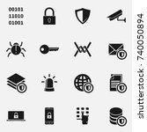 Set Of Secure Vector Icons.