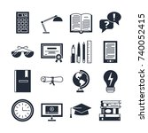 education icons vector set... | Shutterstock .eps vector #740052415