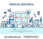 medical research concept in... | Shutterstock .eps vector #740052451