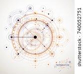 mechanical scheme  vector... | Shutterstock .eps vector #740052751