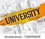 university word cloud collage ... | Shutterstock .eps vector #740054659