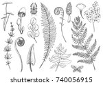 vector graphic set of... | Shutterstock .eps vector #740056915