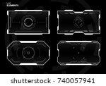 sci fi futuristic screen design | Shutterstock .eps vector #740057941