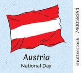 austria. national day. vector... | Shutterstock .eps vector #740058391