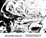 black and white liquid texture. ... | Shutterstock .eps vector #740059057
