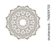 vector ornamental mandala ... | Shutterstock .eps vector #740059735