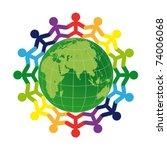 logo   people on the earth | Shutterstock .eps vector #74006068