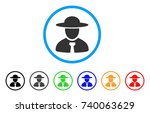 boss rounded icon. style is a... | Shutterstock .eps vector #740063629