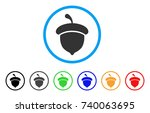 acorn rounded icon. style is a...   Shutterstock .eps vector #740063695