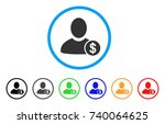 banker rounded icon. style is a ... | Shutterstock .eps vector #740064625