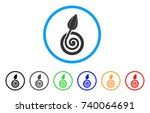 bud sprout rounded icon. style...   Shutterstock .eps vector #740064691