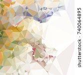 geometric low polygonal...   Shutterstock .eps vector #740064895