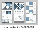 website template design with... | Shutterstock .eps vector #740068231