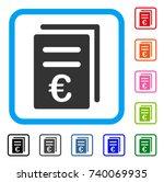 euro catalog list icon. flat...