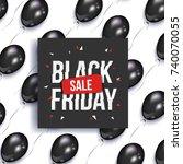 black friday sale banner  flyer ... | Shutterstock .eps vector #740070055