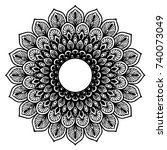 mandalas for coloring book.... | Shutterstock .eps vector #740073049