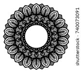 mandalas for coloring book.... | Shutterstock .eps vector #740073091