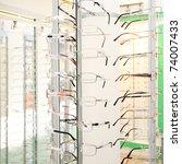 eye glasses background | Shutterstock . vector #74007433